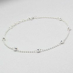 Silberarmband  Schönes Silberarmband mit Kügelchen - Schmuckmetropole