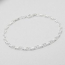 Armkette  Silber Armkette im Ankerketten Design - Schmuckmetropole